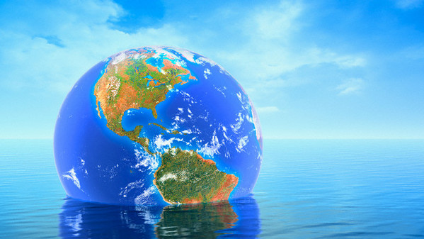 Earth Floating in Water --- Image by © Kulka/Corbis